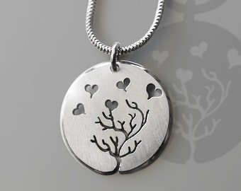 Love Pendant, Sterling Silver Pendant, Silver Jewellery.