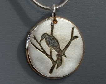 Silver Bird Pendants