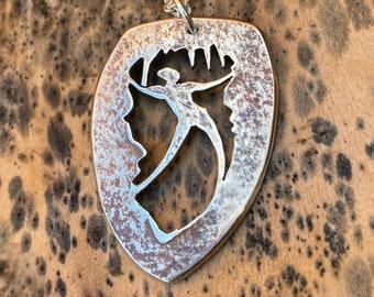Cave Dance, Dance Pendant, Sterling Silver Jewelry, Dance Pendant.