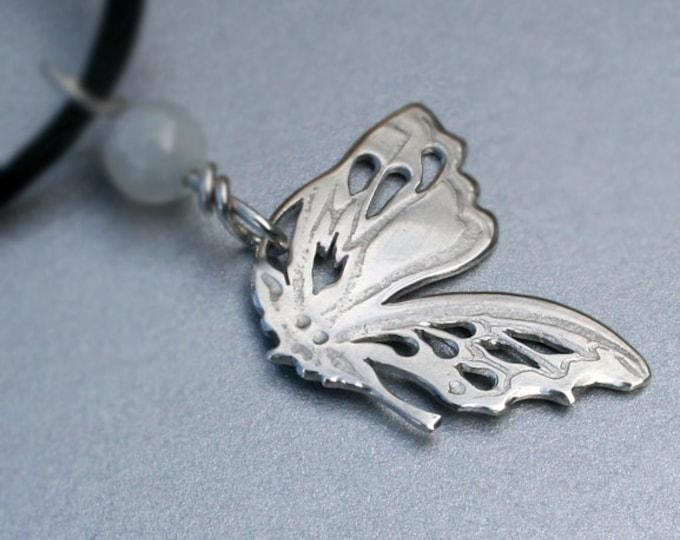 Silver Jewelry, Silver Jewellery, Silver Pendant, Butterfly Wing Pendant, Butterfly Jewelry.