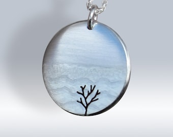 Tree Pendant, Silver Jewelry, Silver Pendant, Pendant, Silver Jewellery, Tree by the Lake.