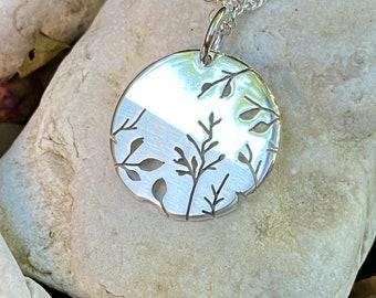 Misty Meadow Pendant, Silver Tree Pendant, Silver Jewellery.