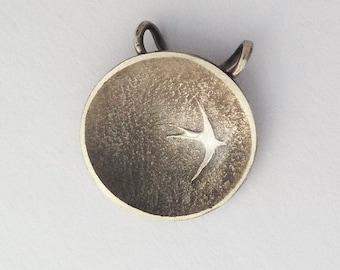 Silver Bird Pendants