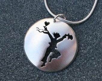 Festival Dance Pendant, Sterling Silver Jewelry, Dance Pendant.