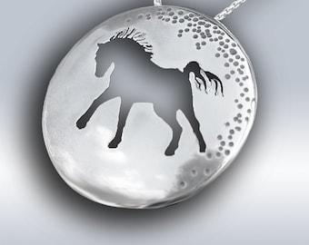 Silver Horse Pendants