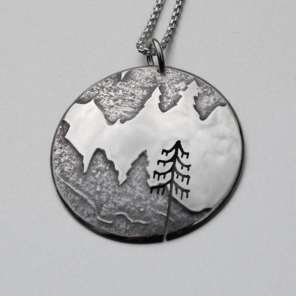 mountain pendant silver jewelry silver pendant silver. Black Bedroom Furniture Sets. Home Design Ideas