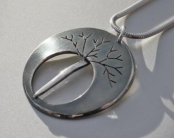 Midnight Tree Pendant, Silver Jewelry, Silver Pendant, Silver Jewellery, Oxidised Necklace.