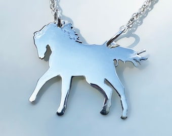 Silver Horse Necklace, Silver Pendant, Silver Horse Jewellery, Horse Pendant.