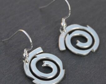 Spiral Galaxy Earrings, Handmade Sterling Silver Jewelry, Silver Jewellery, Silver Earrings, Earrings.