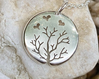 Love Heart Pendant, Sterling Silver Pendant, Silver Jewellery.