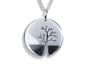 Tree on the Water, Silver Jewellery, Silver Pendant, Pendant, Handmade Silver Tree Pendant