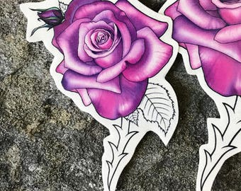 Purple Flower Tattoo Etsy
