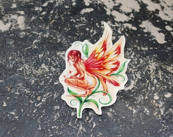 Fairy Temporary Tattoo - Faerie Tattoo - Temporary Tattoo - Fire Faerie - Pretty Faerie Tattoo for the Summer