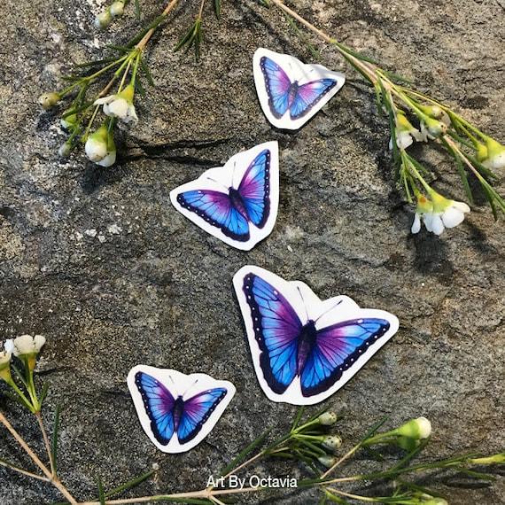 Butterfly Temporary Tattoo Butterfly Tattoo Purple Butterfly Etsy