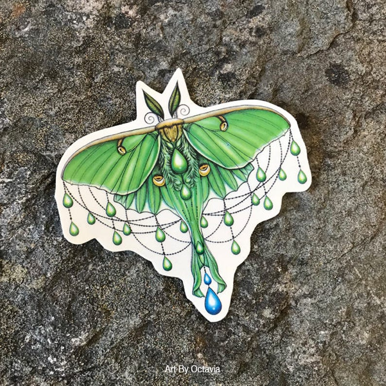 2f6b0226a Luna Moth Moth Temporary Tattoo Luna Moth Tattoo Temporary | Etsy