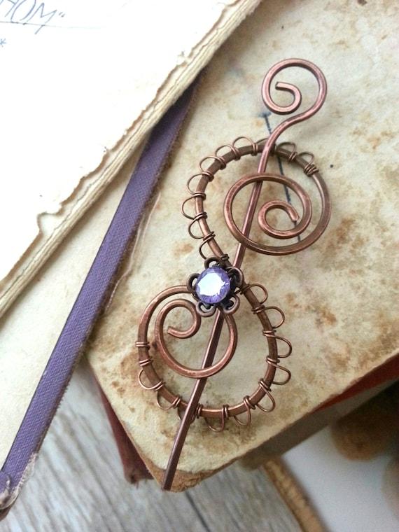 Keltische Schal Schal Pin Spirale Keltisches Pin Pullover | Etsy