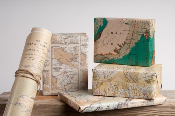 Historic Arctic Maps Wrapping Paper / 12 Sheets   Etsy