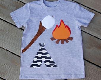 Campfire Birthday Shirt, S'mores Birthday Shirt, Camping Birthday Shirt, Second, Third, Fourth, Fifth, Sixth