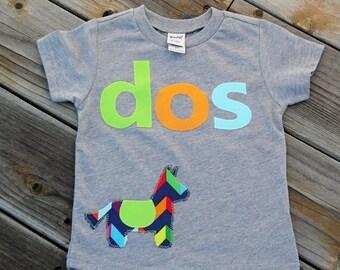 Dos Party Shirt, Fiesta Birthday Shirt, Pinata Birthday Shirt, Second Birthday Shirt
