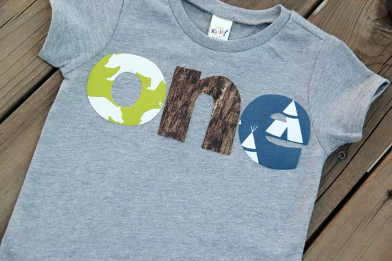 Nature First Birthday Shirt Camping