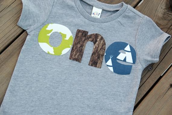 Nature First Birthday Shirt Camping
