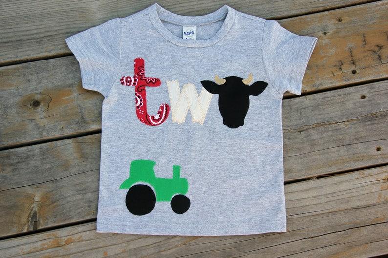 Farm Theme Party Shirt Barnyard Birthday Second