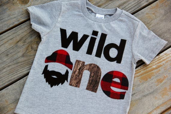 Wild One Lumberjack First Birthday Shirt