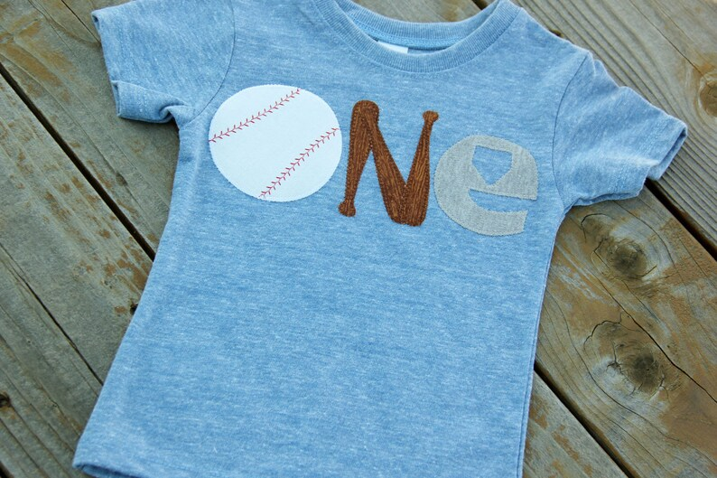 Sports First Birthday Tee Baseball Shirt