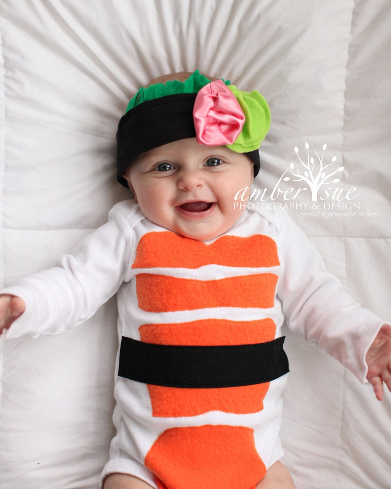 Sushi Costume for infants Including Headband, Sushi Baby Costume and Headband