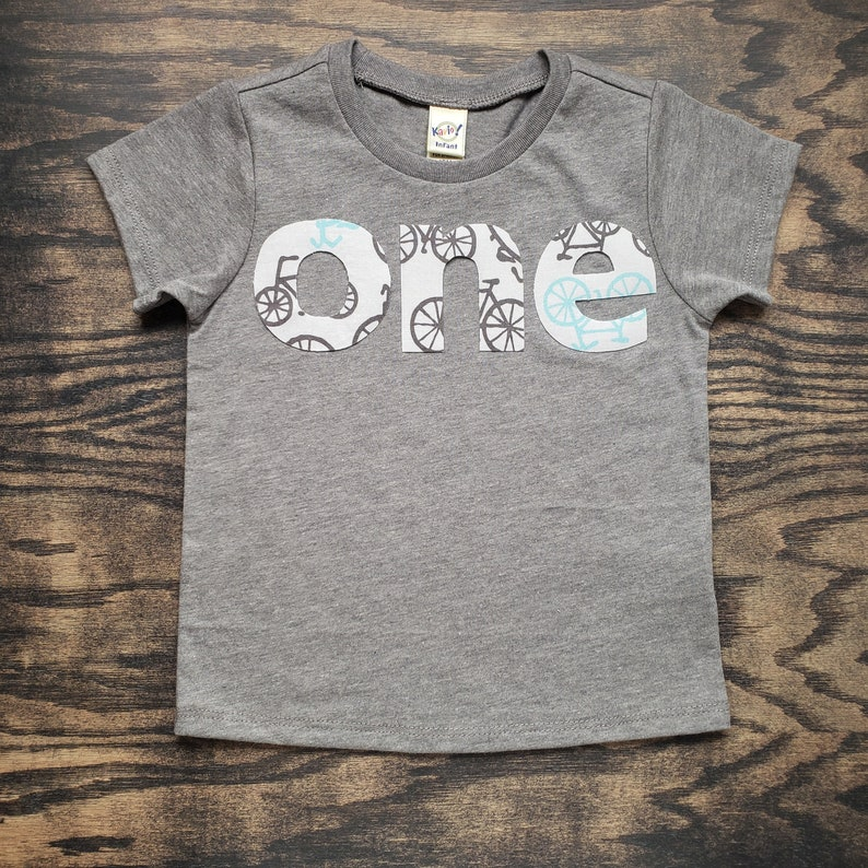 Bicycle First Birthday Shirt