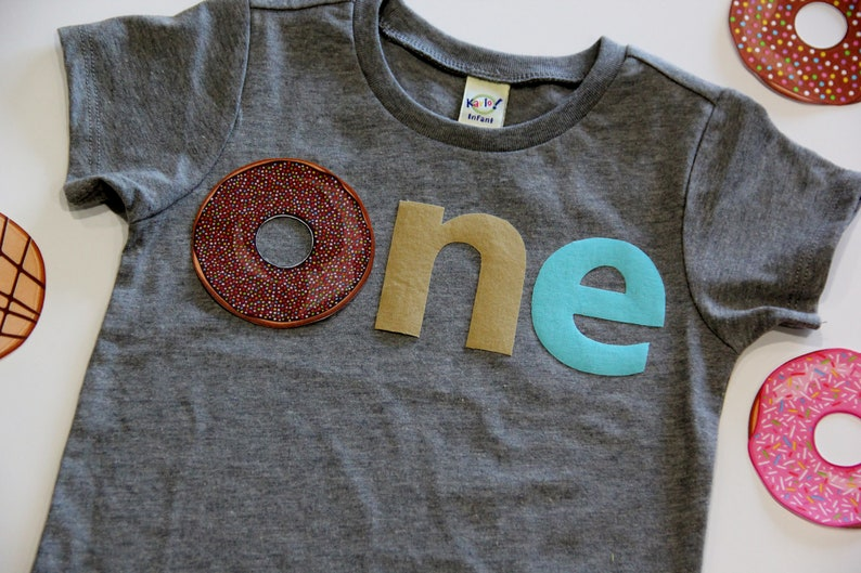 Donut First Birthday Party Shirt Foodie