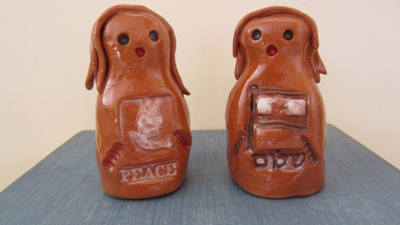 Golem One of a Kind Magical Mythical Protector Ceramic Figurine PEACE and SHALOM GOLEMS