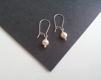 Bridal, Swarovski Pearl, Single Drop Earrings. Perfect for Christmas Parties and Gifts.