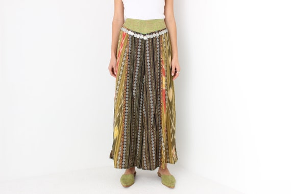 90s Vintage Cambodian Printed Cotton High Waist W… - image 2