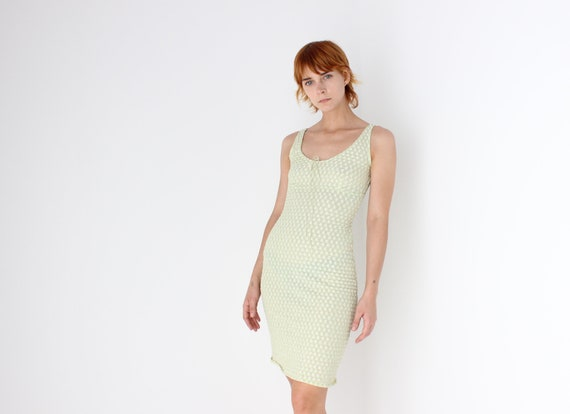 Sweetest 90s / Y2K Pastel Mesh Textured Mini Dress
