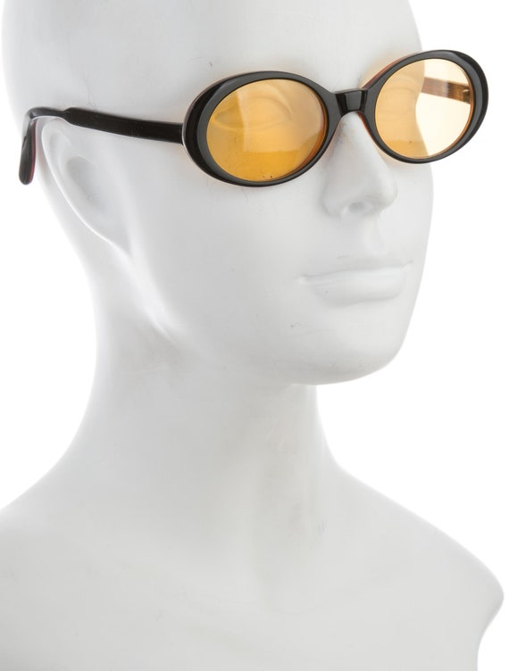 90s Dolce & Gabbana Techno Yellow Lens Oval Eye / Round Cat Eye Vintage Designer Sunglasses W/ Canary Tinted Lenses by Etsy