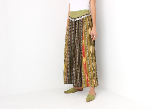 90s Vintage Cambodian Printed Cotton High Waist W… - image 3