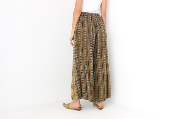 90s Vintage Cambodian Printed Cotton High Waist W… - image 5