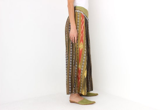 90s Vintage Cambodian Printed Cotton High Waist W… - image 8