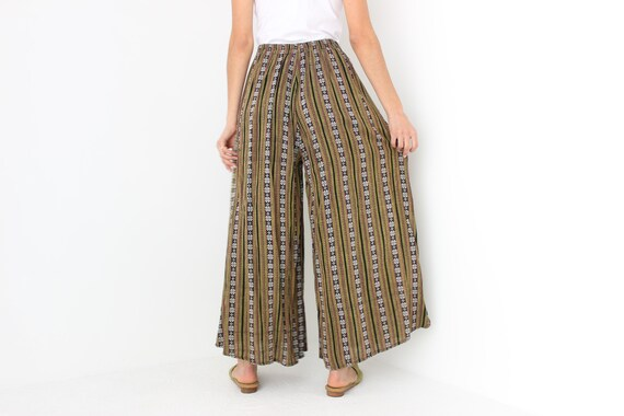 90s Vintage Cambodian Printed Cotton High Waist W… - image 6