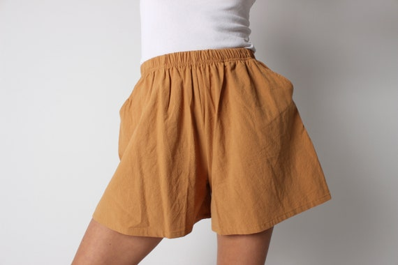 Cotton / Linen Simple Earthy Marigold Yellow Elast