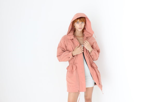 80s Dusty Rose Hooded Puffer Anorak