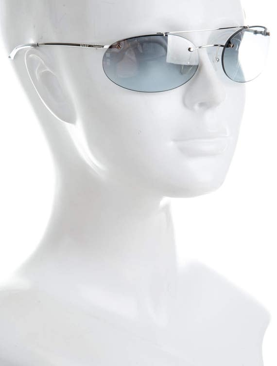 500868cf1be4 Y2K CHRISTIAN DIOR Baby Blue Frameless Rimless   Sports Luxe