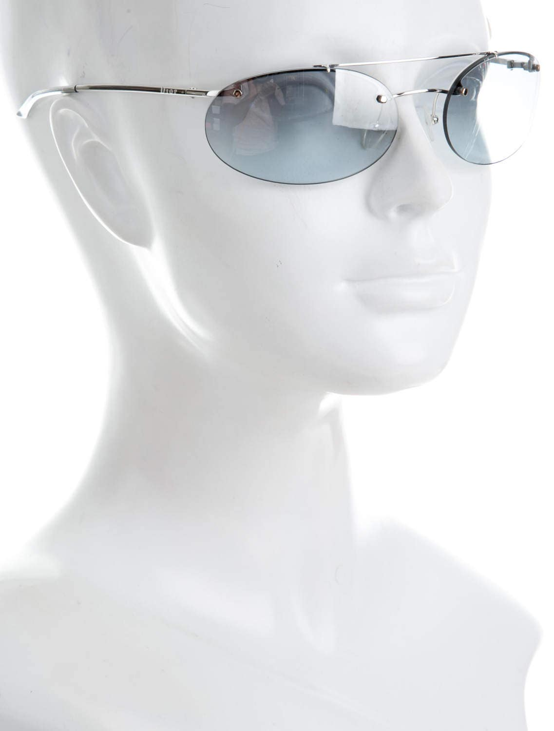 00d4744f8265 Y2K CHRISTIAN DIOR Baby Blue Frameless Rimless   Sports Luxe