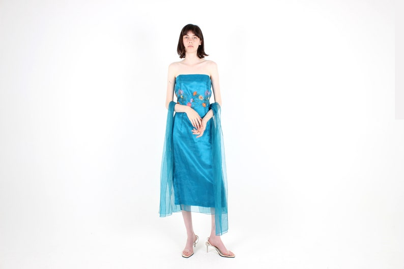 90s Organza 10 Things I Hate About You Prom Scene Aqua Etsy