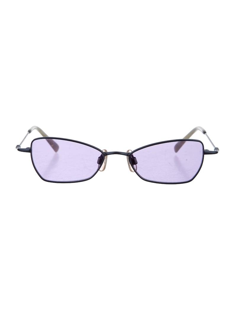606a3f1944f458 DITA Pastel paars Lens 90s minimale geometrische Cat Eye Raver