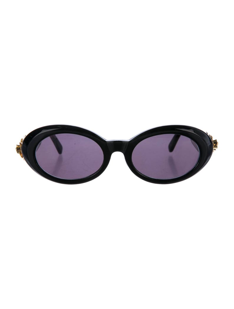 c5b4237be1fe1 Collectable GIANNI VERSACE Late 80s Oval Eye   Cat Eye Thick