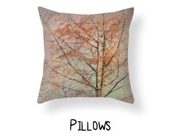 Tree Branches Pillow, Tree Photo Pillow, Aspen Tree Pillow Case, Nature Throw Pillow, Nature woods Decor, Woodsy Nature Throw Pillow Cover