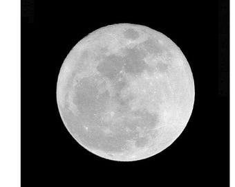 Super Moon Photo, Full Moon Photography, Moon Phases Print, Astronomy Photo, Silver Moon in a Dark Night Sky, Black and White Full Supermoon