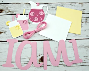 Diy mini banner kit etsy diy pink lemonade mini highchair banner lemonade stand birthday first birthday party do it yourself kit solutioingenieria Choice Image